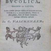 Theocriti, Bionis et Moschi Carmina bucolica graece et latine
