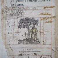 Dictionaire francoislatin, contenant les motz & manieres de parler francois, tournez en latin