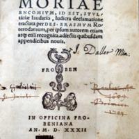Moriae encomium id est Stulticiae laudatio, ludicra declamatione [...]