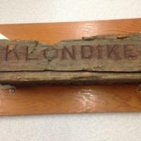 Klondike Townsite Wooden Post - Frontal View