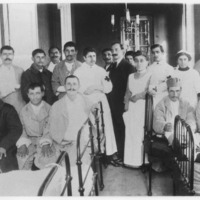 Hellenic Red Cross Hospital. Wounded and convalescent during the 1913 war.