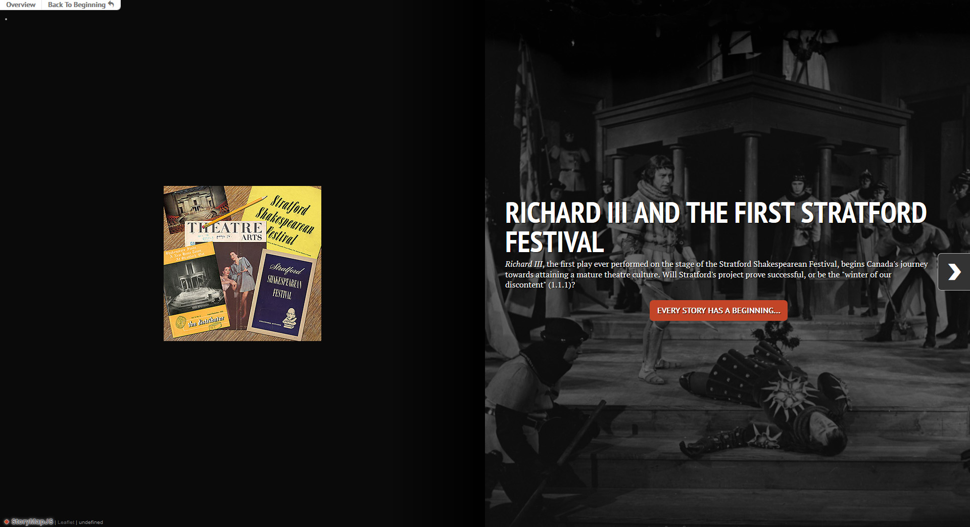 Richard III and the First Stratford Festival