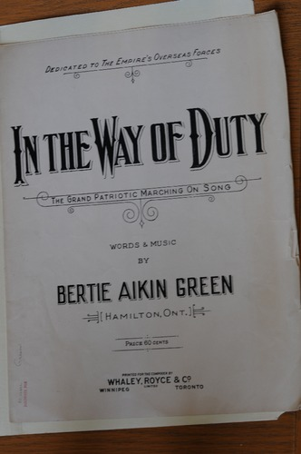 IN THE WAY OF DUTY