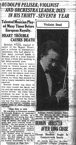 Rudolph Pelisek obituary