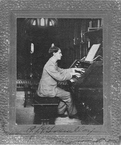 Amédée Tremblay at the organ