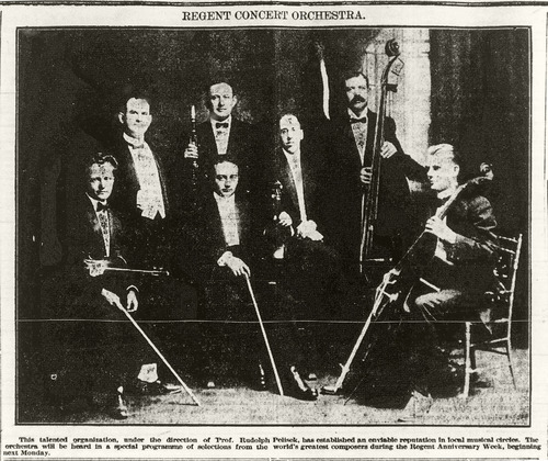 """Regent Concert Orchestra"" [newspaper photo]"