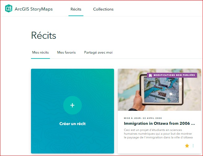 ESRI StoryMaps from ArcGIS