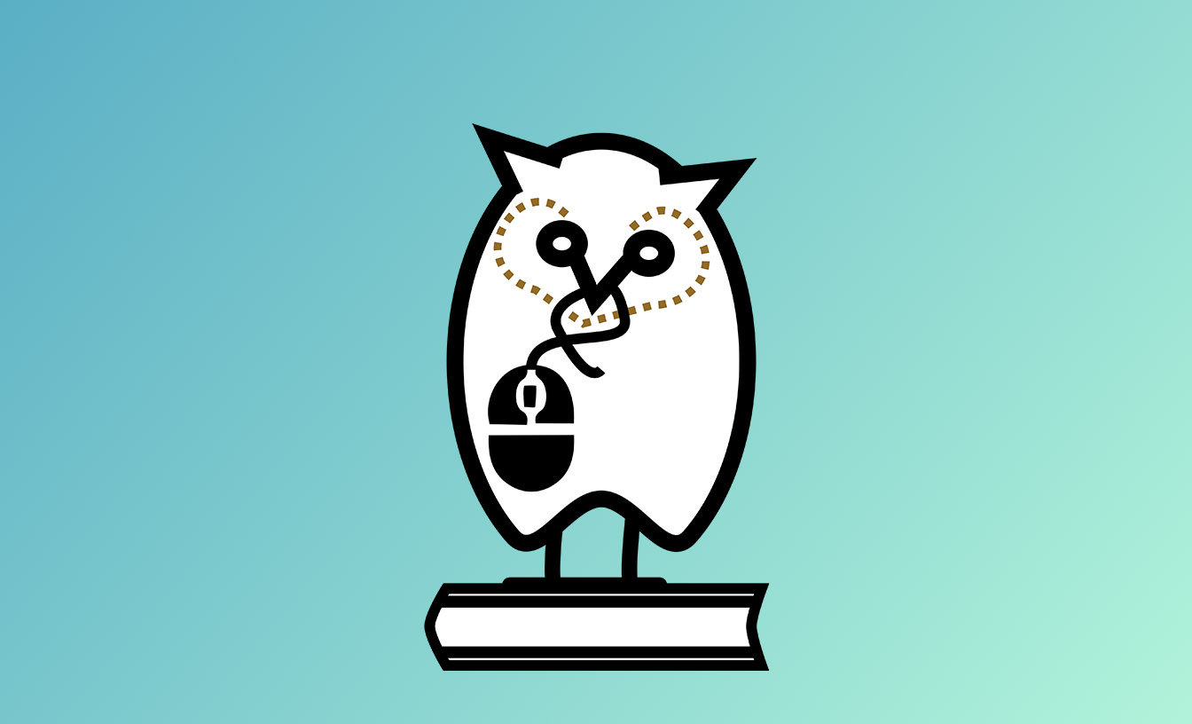 An owl standing on a book
