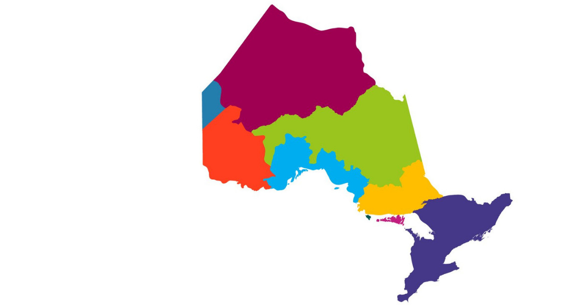 map of Ontario treaties