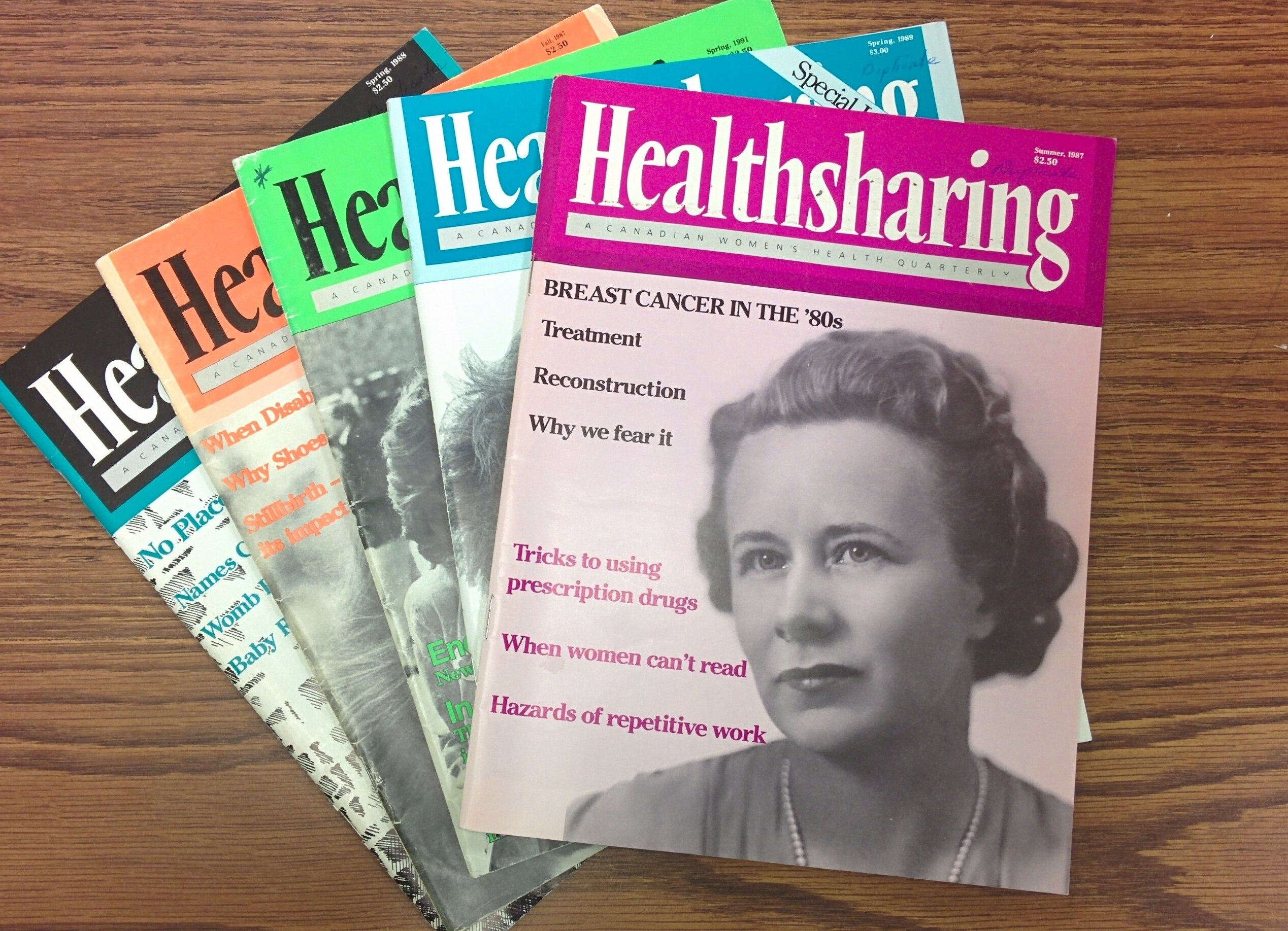 Display of Healthsharing Magazines