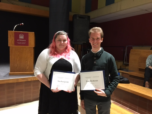 Gagnants : Irène Knicely-Coutts et Lucas Cherkewski (Absent : Navneet Rai)