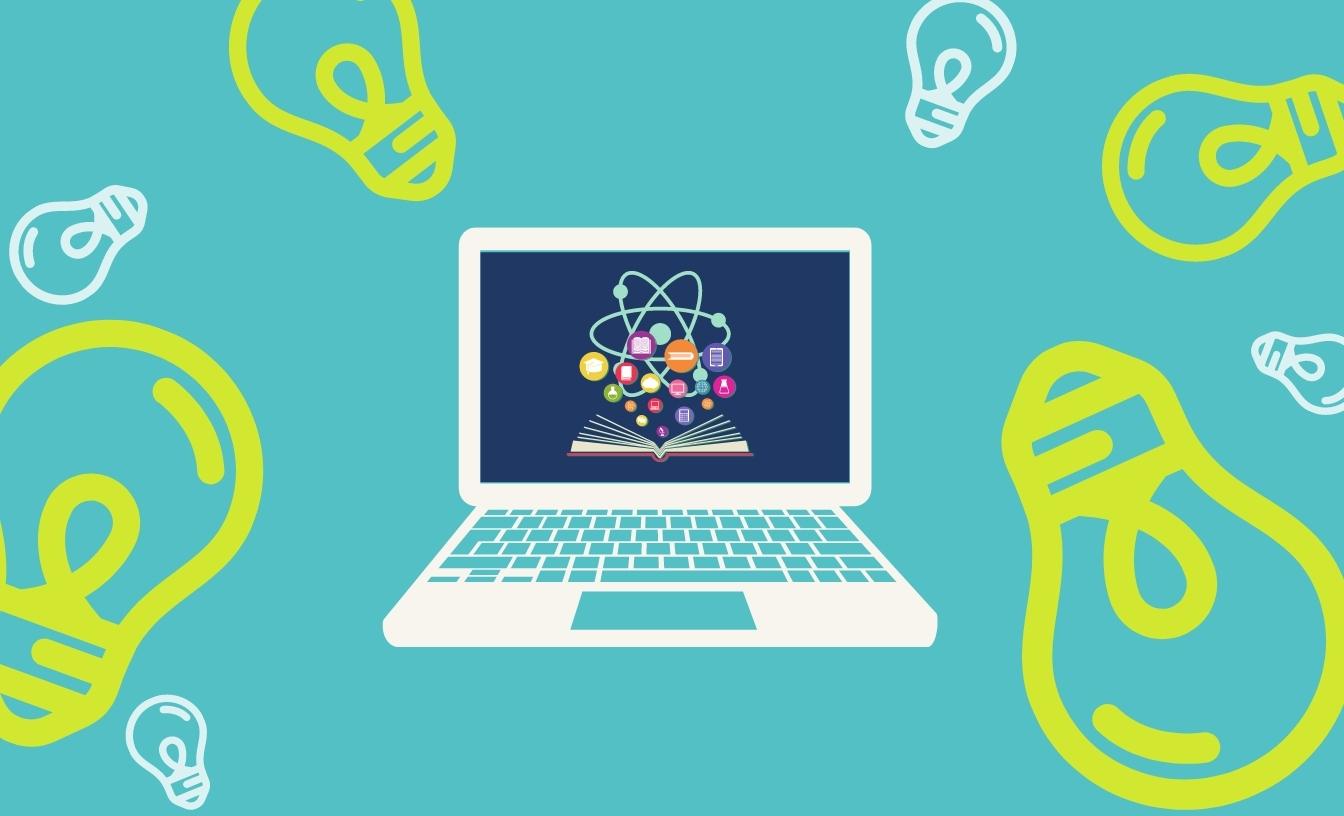 Un portable pour l'apprentissage en ligne.